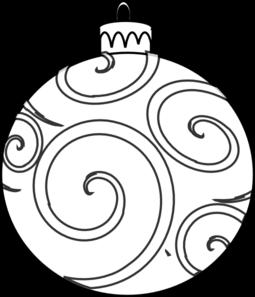Swirl Ornament Outline Clip Art.