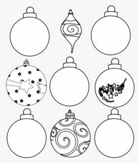 Free Christmas Ornament Outline Clip Art with No Background.