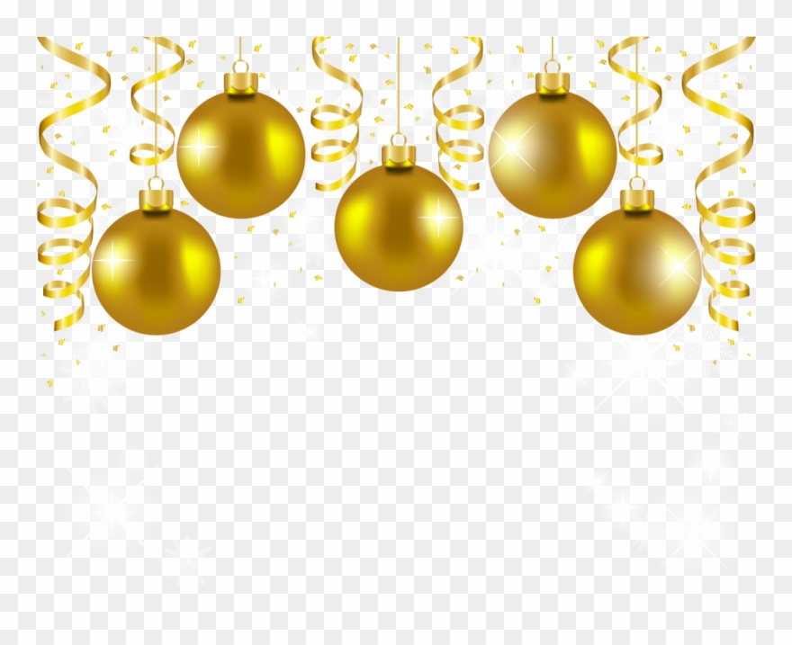 Download Gold Christmas Balls Png Clipart Christmas.