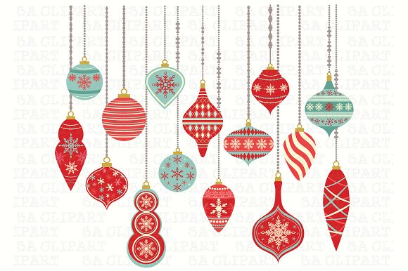Christmas clip art ornament.