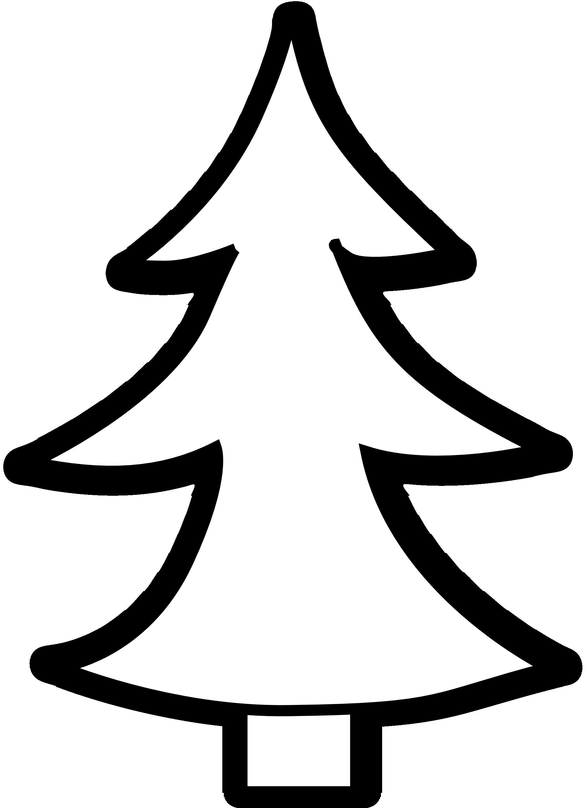 Pine tree clipart black.
