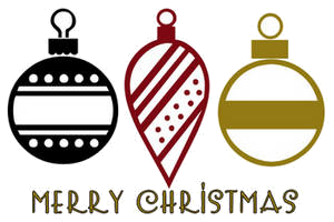 Christmas Ornament Black And White Clipart Free Transparent Png.