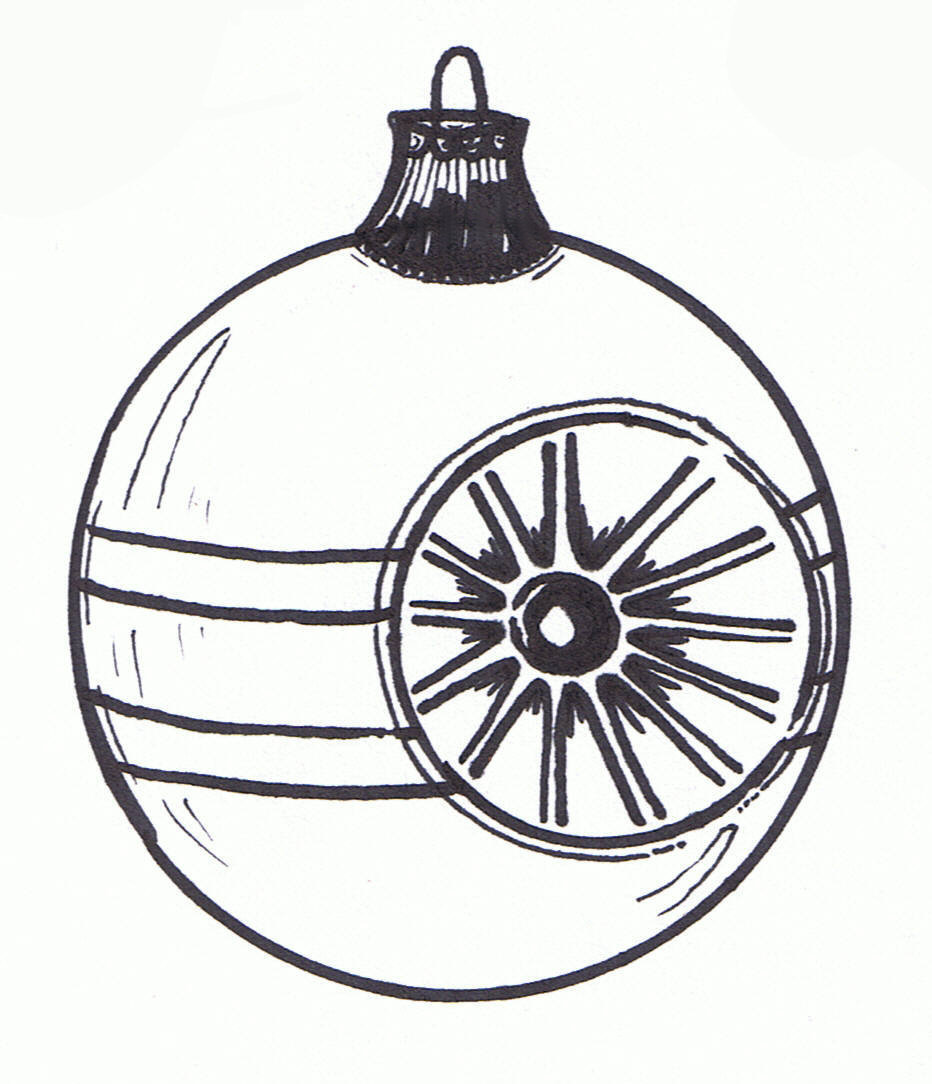 Christmas ornament black and white christmas ornament clip art black.