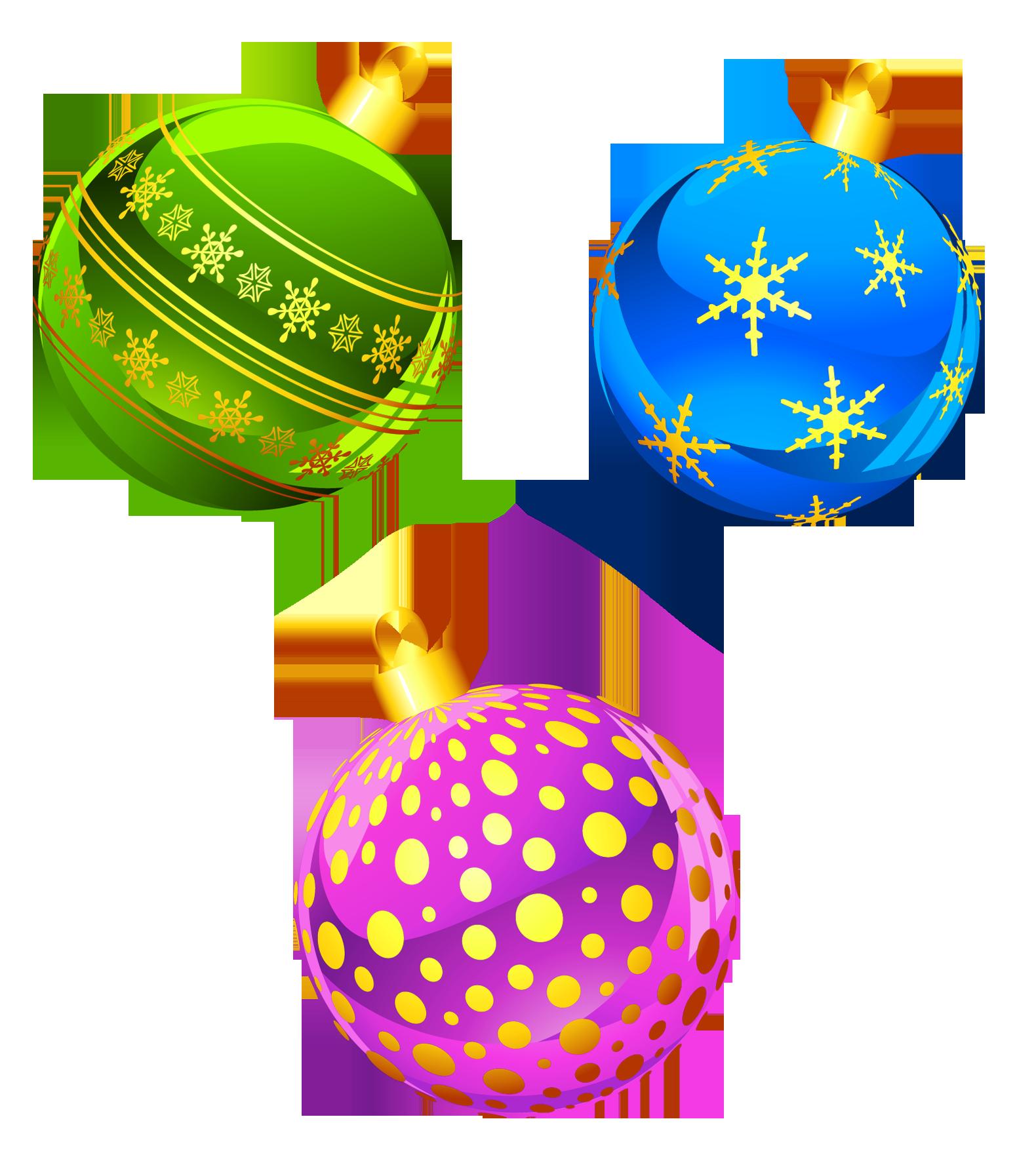Transparent Christmas Ornaments Clipart.