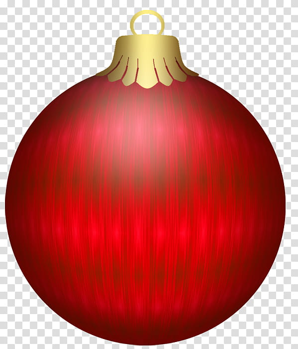 Balls Red, red Christmas ornament transparent background PNG.