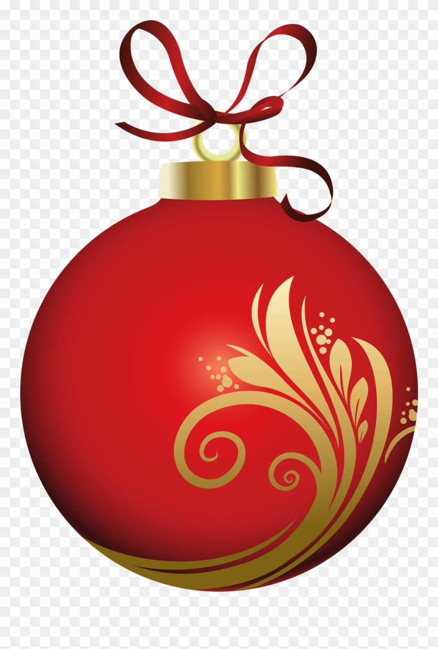 Christmas Ornament Clipart Png Red Christmas Ornament.