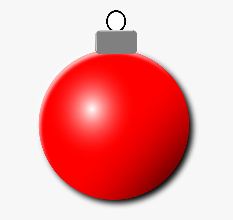Red Christmas Ornament Clipart , Transparent Cartoon, Free.
