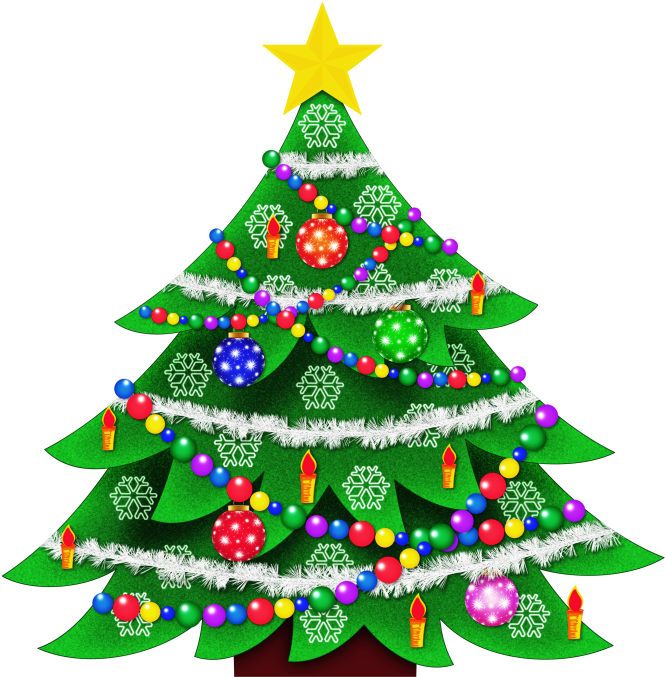 Christmas Tree Clip Art Free Vector In Open Office.