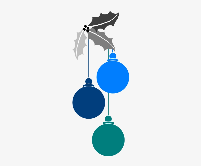 Christmas Ornaments Clipart Blue Christmas.