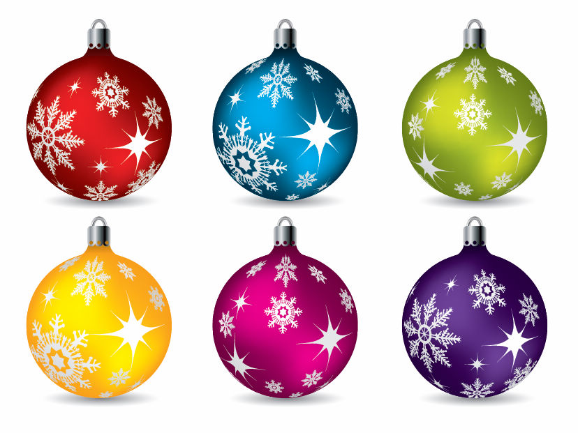 Colorful Christmas Ball Ornaments (25321) Free EPS Download / 4 Vector.