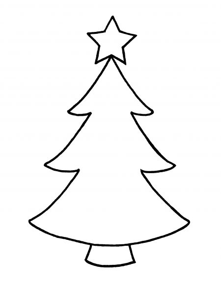 Green Christmas Tree Outline Clipart Clipart Kid.
