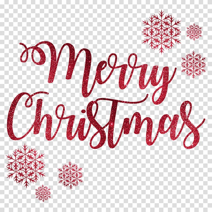 Merry Christmas text overlay, Merry Christmas Snow Flakes.
