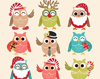93+ Christmas Owl Clip Art.