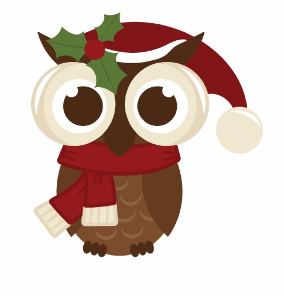 Christmas Owl Clipart Cute Christmas Owl Clipart Plant.