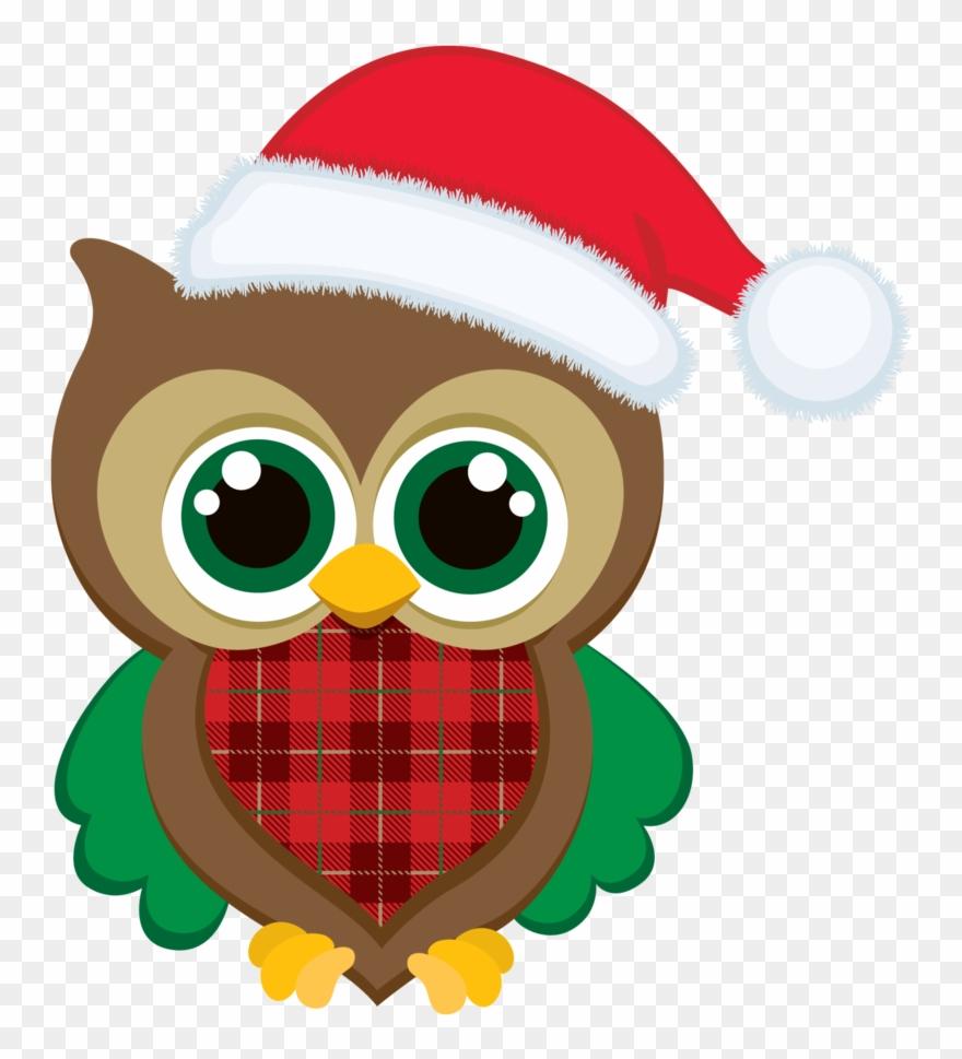 Christmas Owl Clip Art.