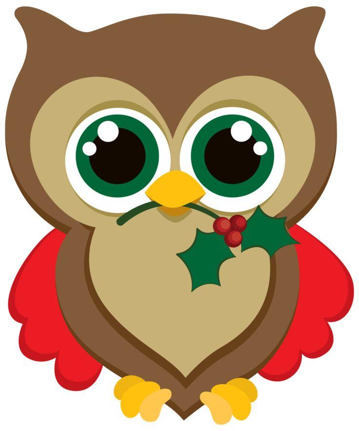 30 best christmas owl images on Pinterest Owl clip art.