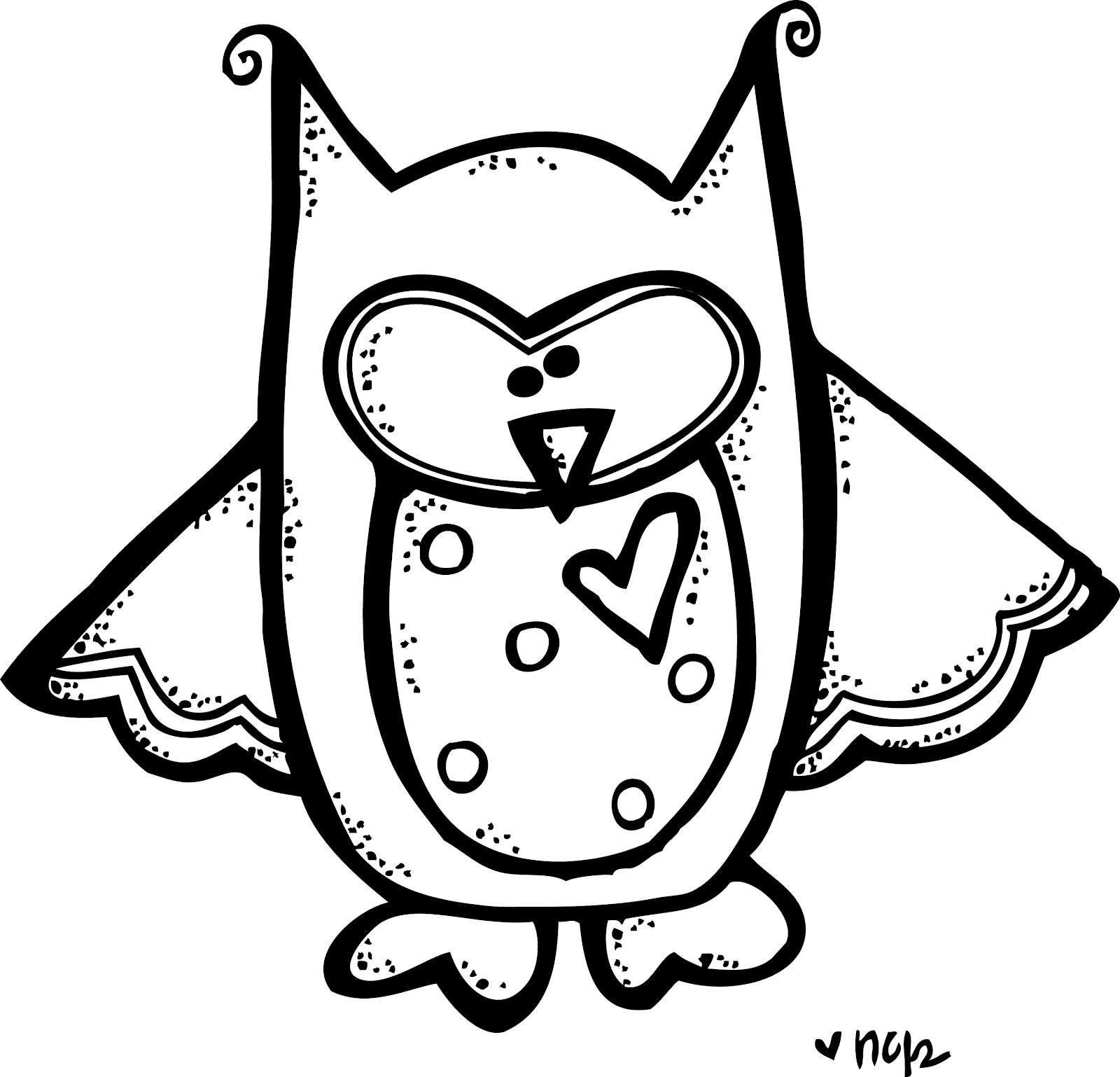 Best Owl Clipart Black and White #28309.