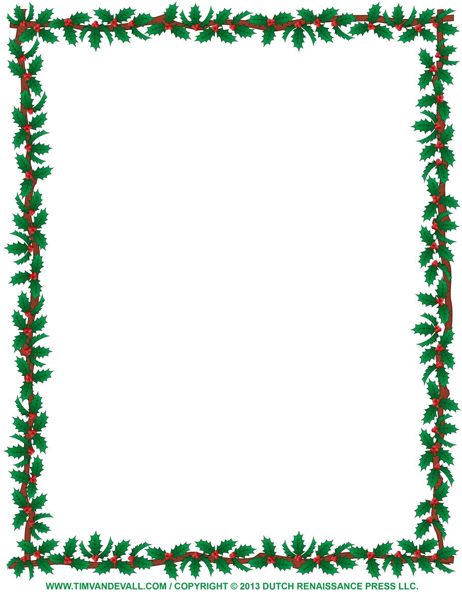 Free Christmas Page Border Clipart.