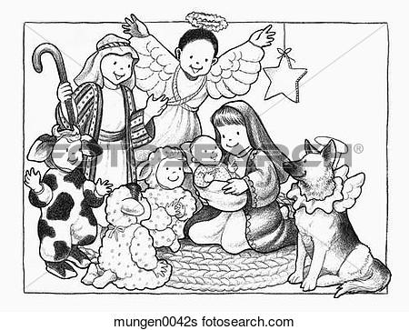 Christmas pageant clipart.