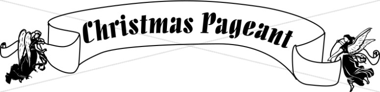 Christmas Pageant Banner Carried by Angels.