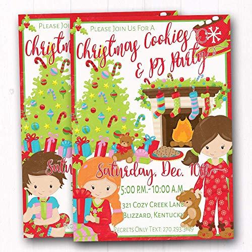Amazon.com: Kids Christmas Pajama Party Invites.