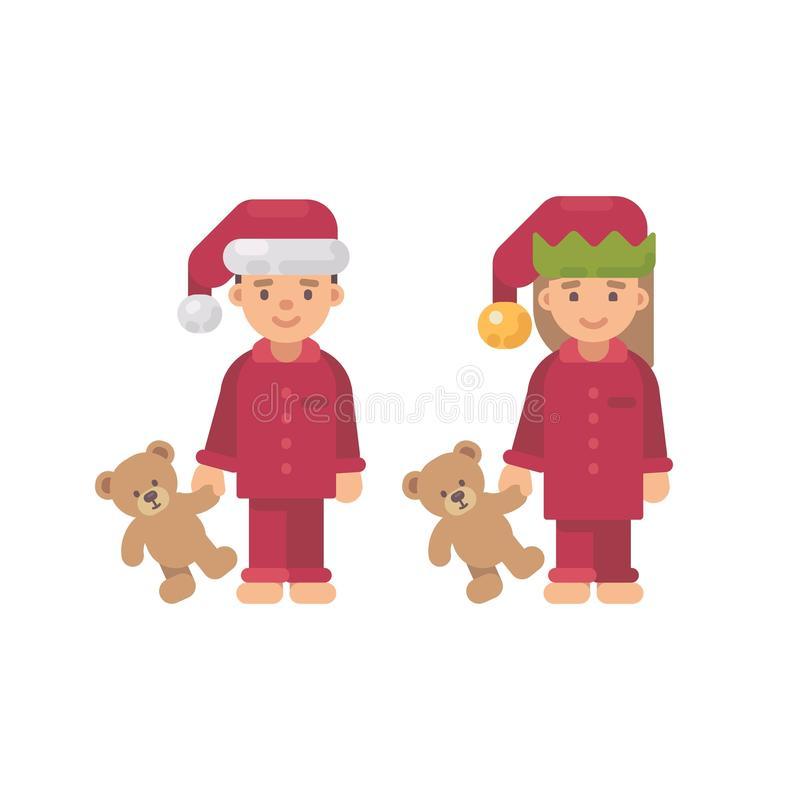 Christmas Pajamas Stock Illustrations.