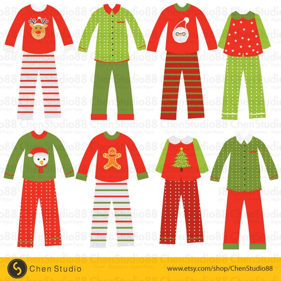 Christmas Pajamas vector.