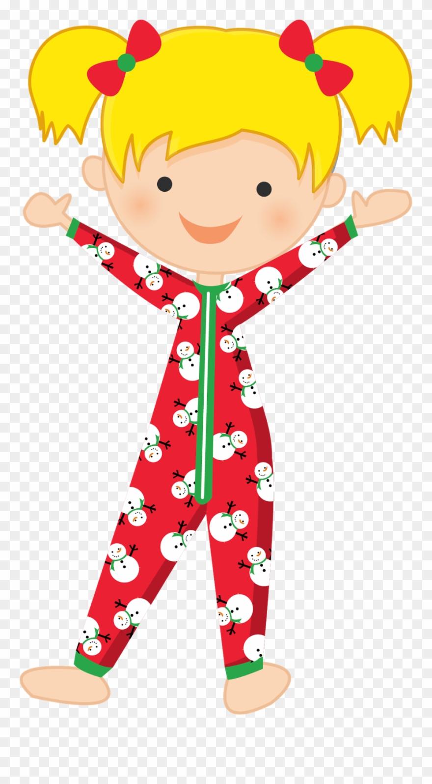 Christmas Pajamas Clipart.