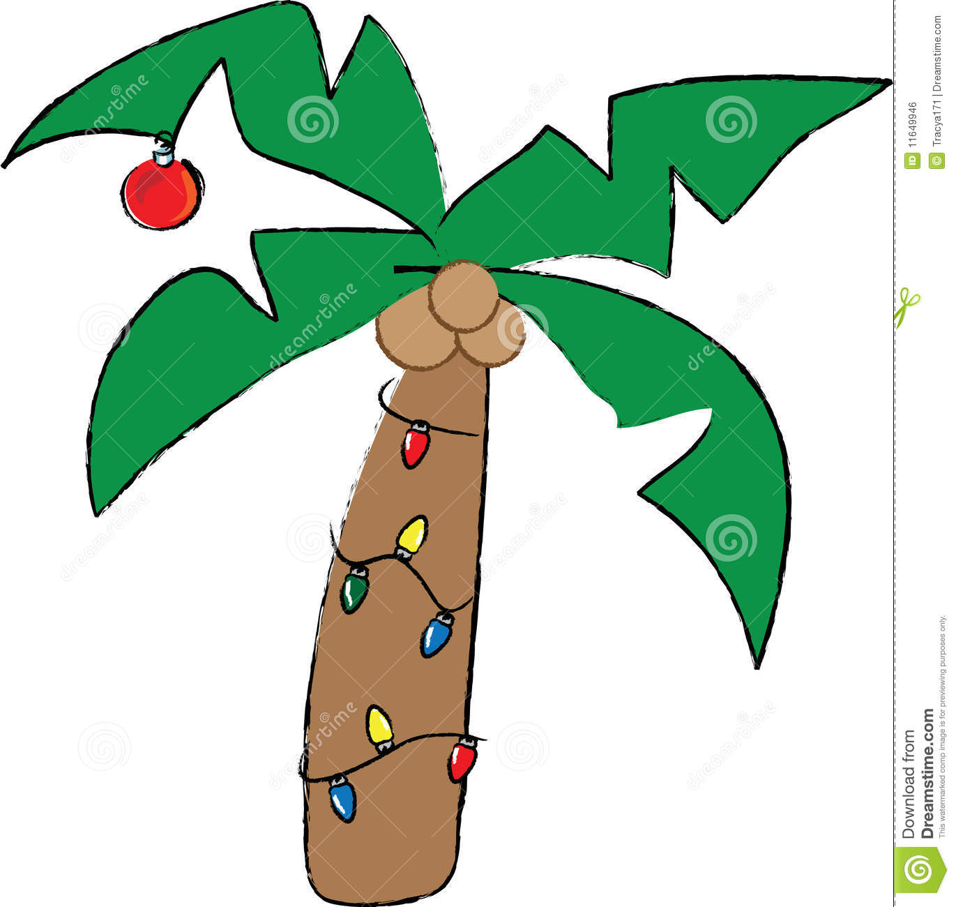Christmas palm tree clipart 4 » Clipart Station.