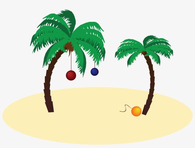 Palm Tree Christmas Png.