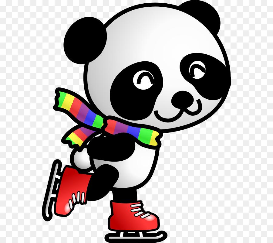 Christmas Panda Cliparts 5.