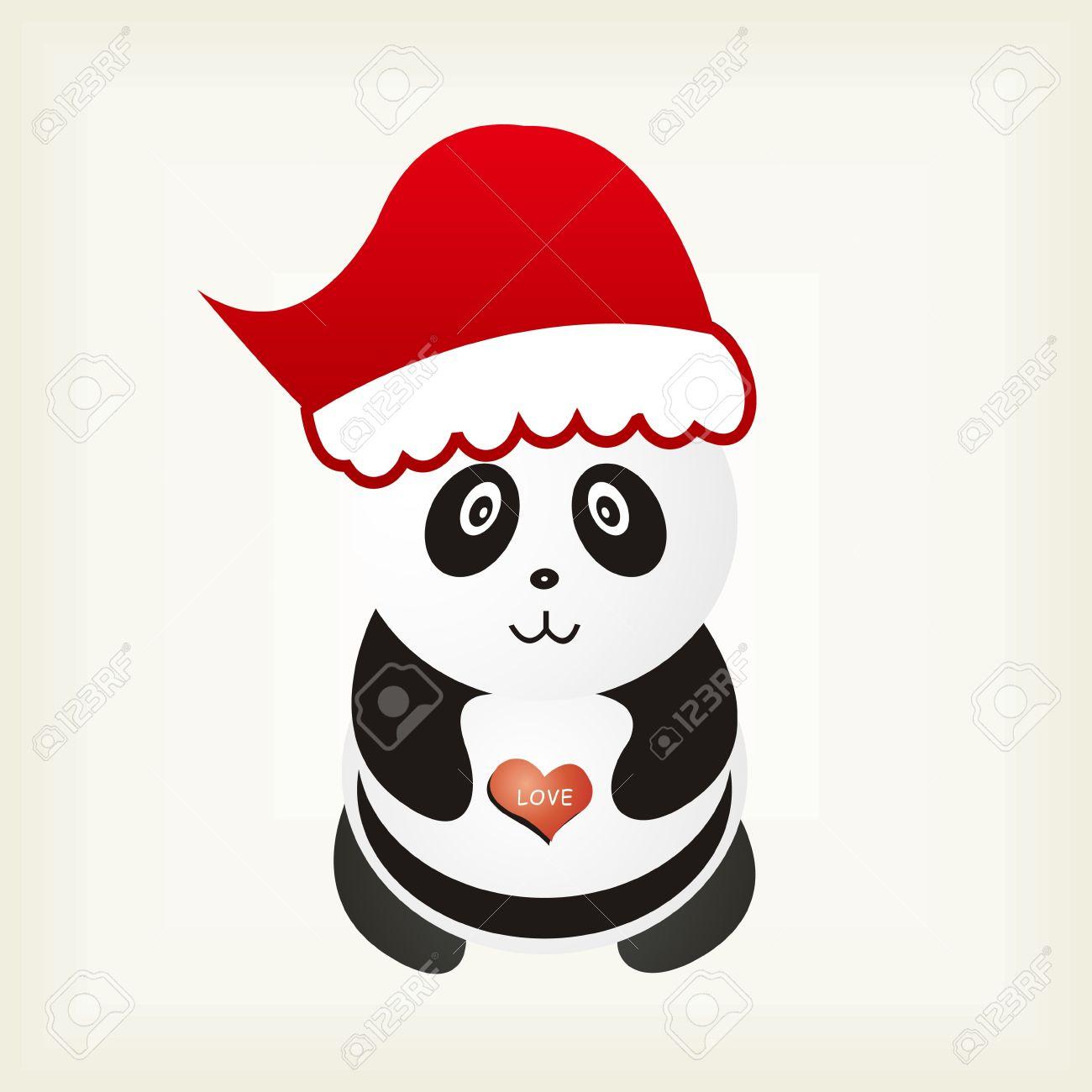 Christmas Panda Background.