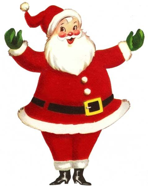 Vintage Retro Santa Claus Full Size.