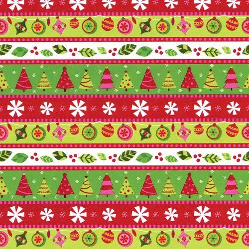 Vintage Christmas Wrapping Paper Clipart.