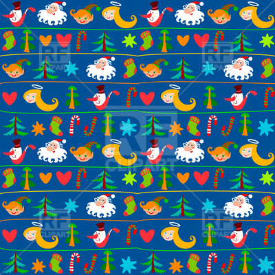 Festive Christmas background or wrapping paper Vector Image.