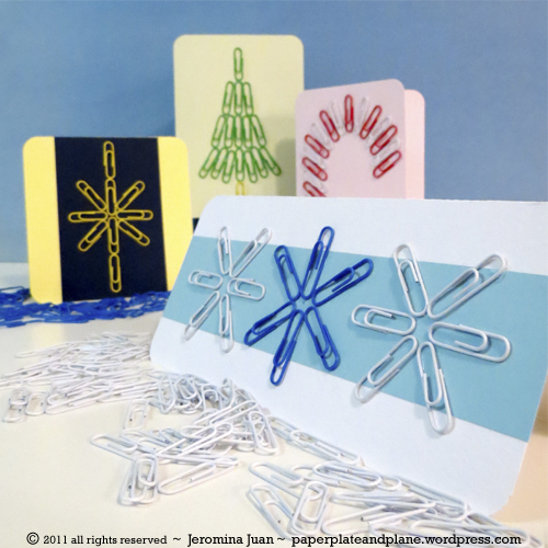paper clip christmas cards.