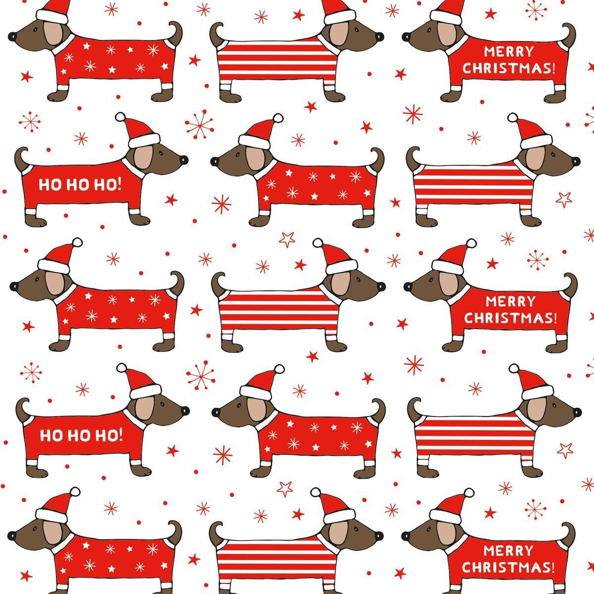 Christmas Dachshund Wrapping Paper.
