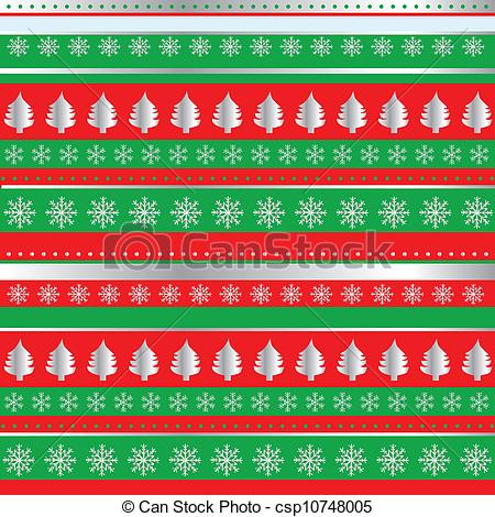 Vector Clipart of Wrapping Christmas paper csp10748005.