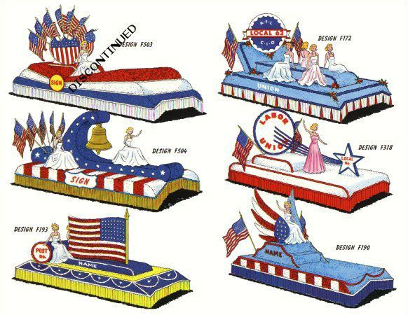 Parade Float Designs With a Patriotic Theme.