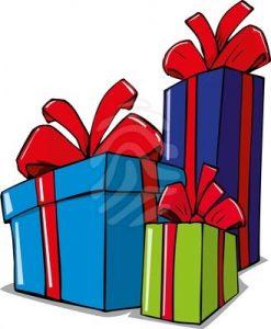 christmas presents parcel clipart cartoon illustration of.