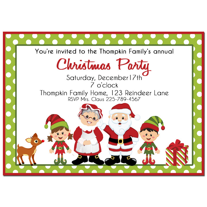 Santa and Mrs. Claus Christmas Party Invitation by That Party Chick.