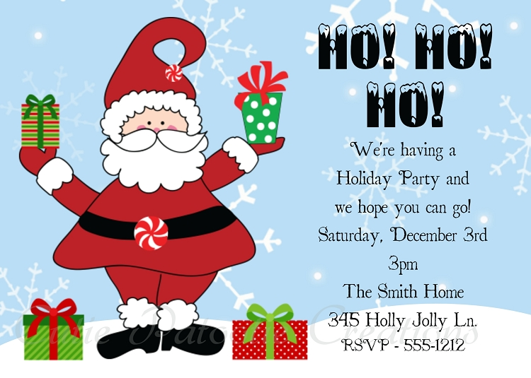 How to make christmas party invitations all ideas clip art.