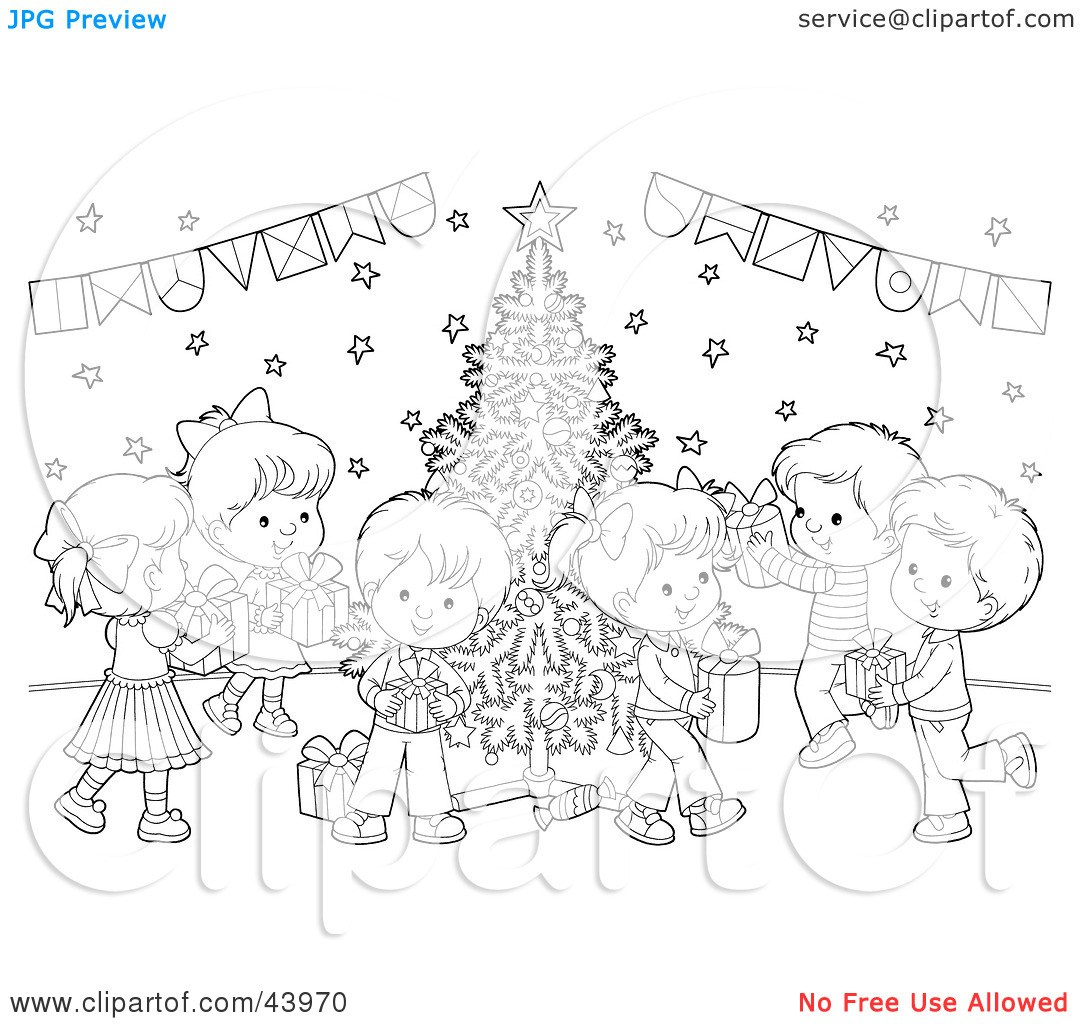 Christmas party clipart black and white 6 » Clipart Portal.
