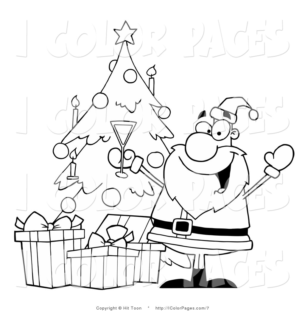 Christmas celebration clipart black and white 4 » Clipart Station.