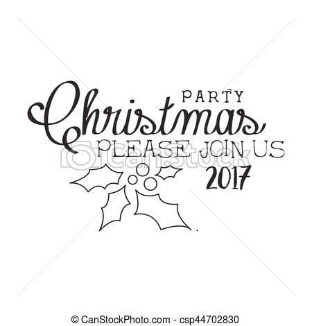 Christmas party clipart black and white 1 » Clipart Portal.