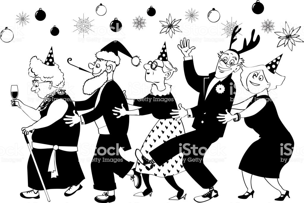 Christmas party clipart black and white 5 » Clipart Portal.