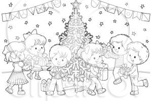 Christmas party clipart black and white » Clipart Portal.