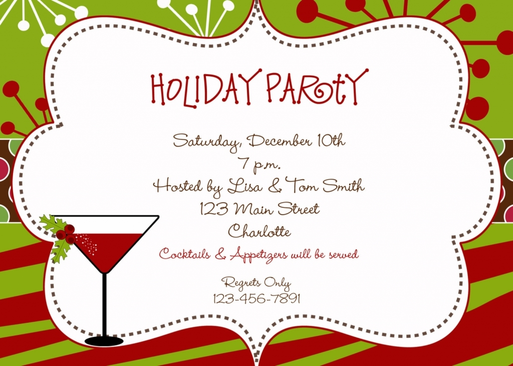 Cocktail For Christmas Party Funny Cocktail Party Invitation.