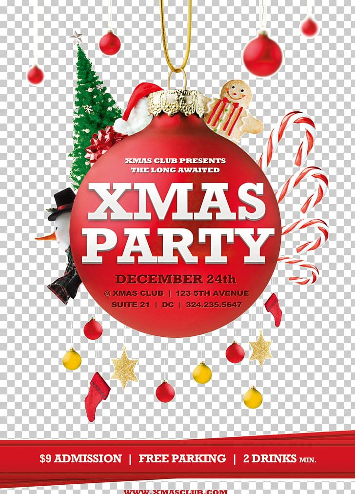 Christmas Poster Flyer Party Template PNG, Clipart, Birthday Party.