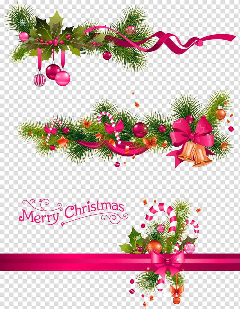 Green simple christmas decorative decorative patterns.